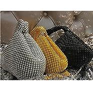 ele ELEOPTION Women Clutch Purse Women's Evening Clutch Triangle Design Full Rhinestones Wedding Purse Handbag for Party Prom Wedding Purse