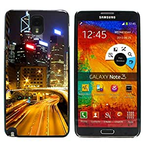 Graphic4You Hong Kong Postcard Design Thin Slim Rigid Hard Case Cover for Samsung Galaxy Note 3