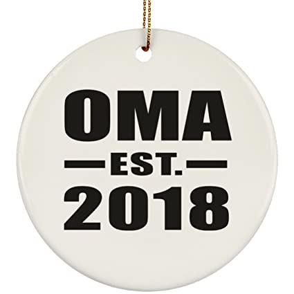 Amazon.com Oma Established EST. 2018 , Circle Ornament Xmas