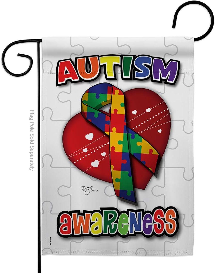 Breeze Decor G165085 Autism Awareness Inspirational Support Decorative Vertical Garden Flag, 13