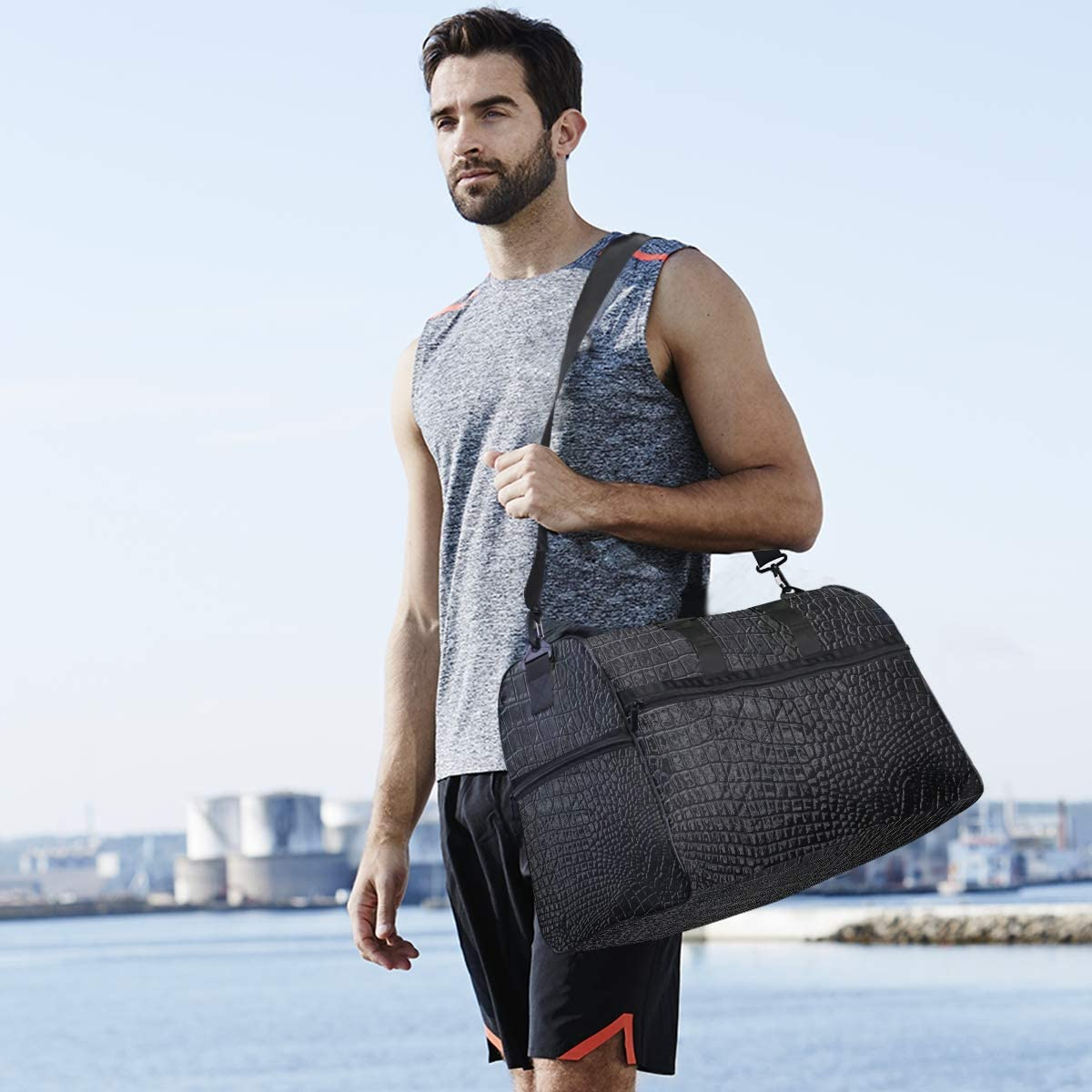 Travel Duffel Bag Luggage Sports Gym Bag With Shoes Compartment Large Capacity Lightweight Duffle Bag For Men Women