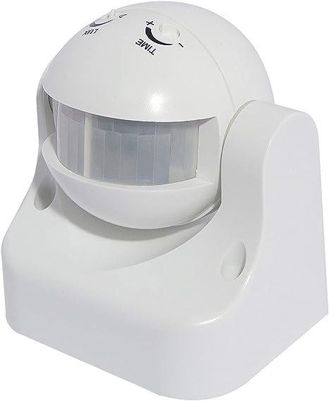 Sensor de movimiento Chacon 34302 Al/ámbrico Techo Blanco detector de movimiento Al/ámbrico, 122 mm, 80 mm, 215 mm, Blanco