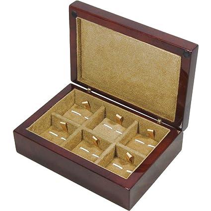 Caja de madera del Burl del alcanfor 6 gemelo