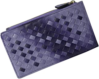 Weave Carte de crédit Porte-Organizer Wallet, 18 fentes de cartes, Violet Blancho Bedding