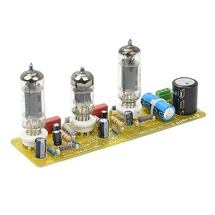 AIYIMA Amplificadores de Tubo de Vacío 6N1+6P1 Válvula Estéreo Amplificador Junta Filamento AC Fuente