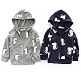 SMALLE ◕‿◕ Clearance,Infant Toddler Baby Boys Girls Cartoon Dinosaur Hooded Zipper Tops Clothes Coat