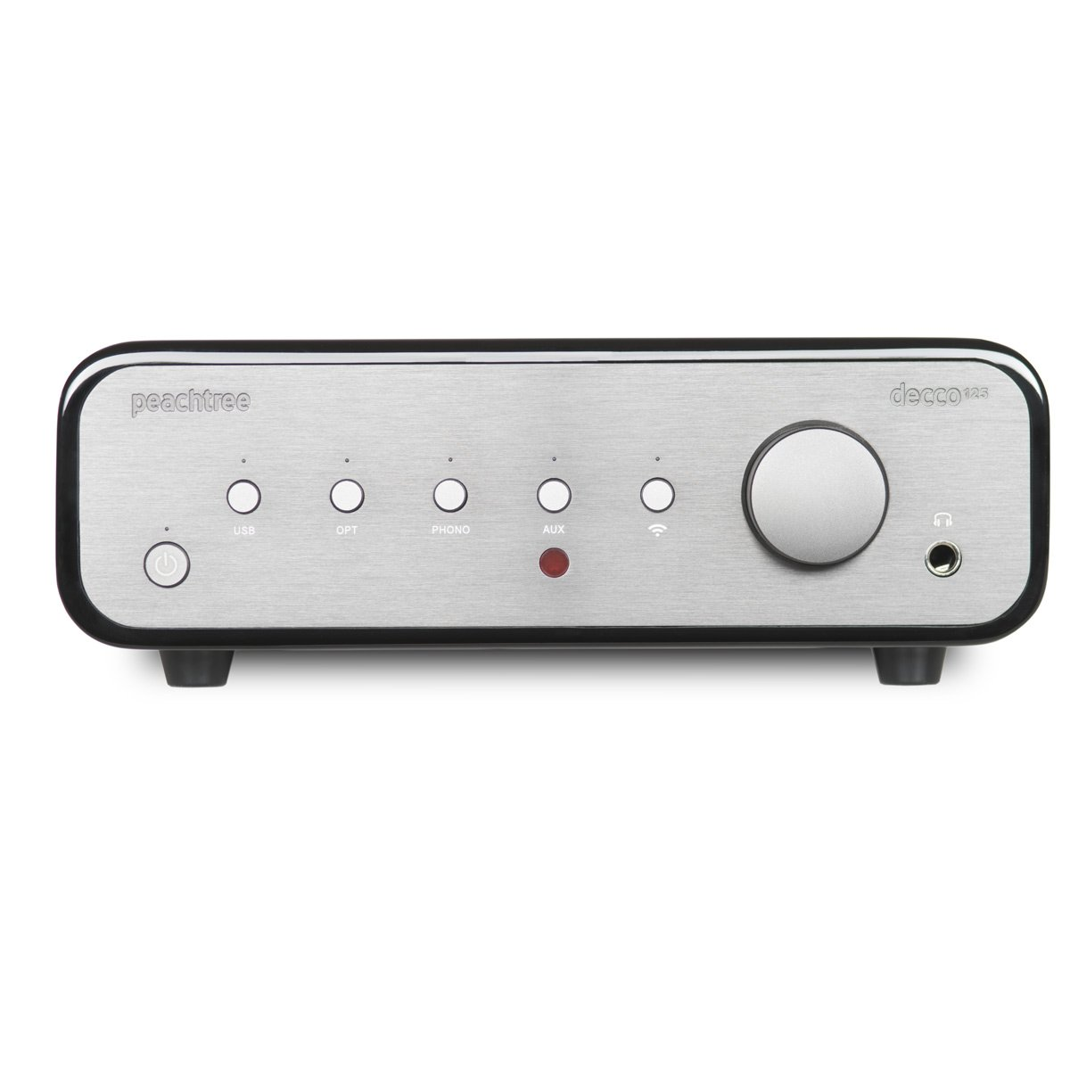 Peachtree Audio decco125 SKY Integrated Amplifier with Wireless Network Input Capability (Piano Black) by Peachtree Audio