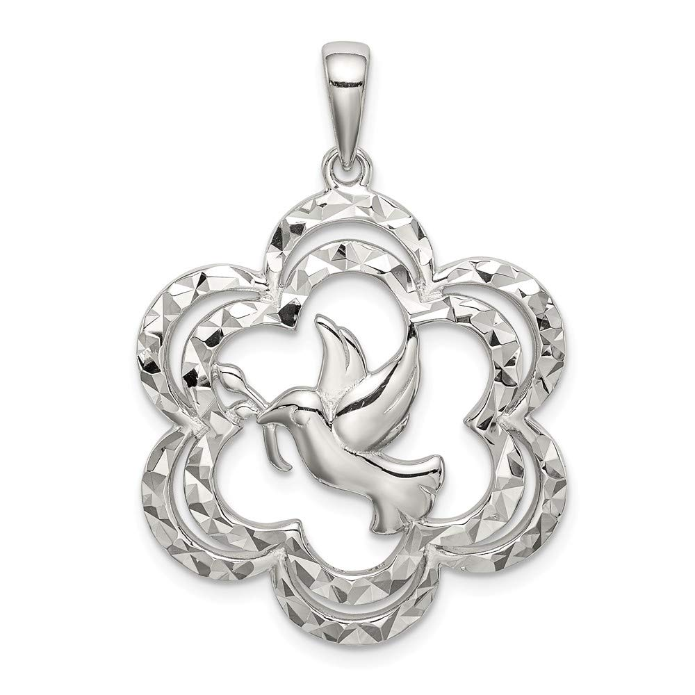 925 Sterling Silver Dove Pendant Charm Necklace Religious Fine Jewelry Gifts For Women For Her