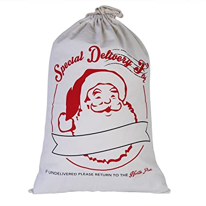 personalized santa sack christmas gift sack santa bag 20x28 pure cotton canvas