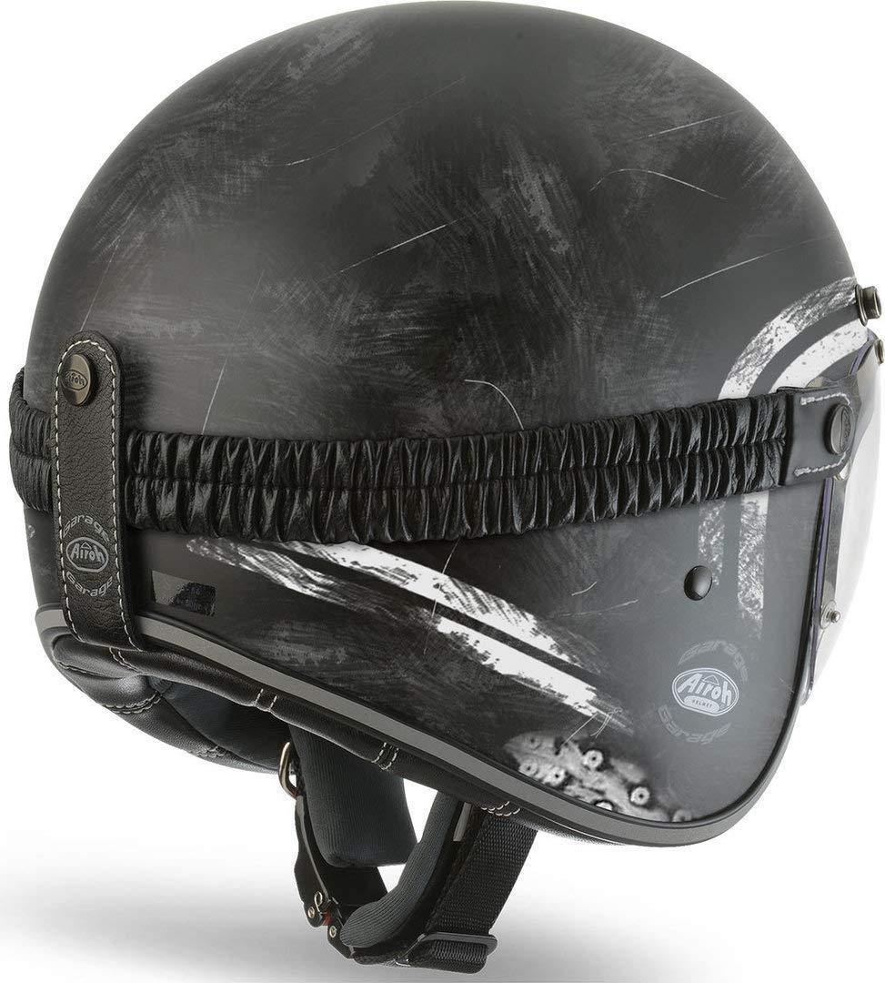 Airoh GARA35M Garage Raw Open Face Motorcycle Helmet M Matt Black