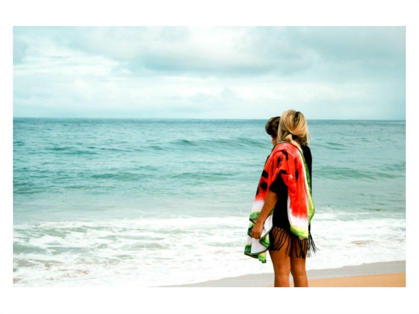 kxrzu Gracioso Toalla de playa con estampado de frutas Manta de playa redonda Patrón Watermalon 150x150cm: Amazon.es: Bebé