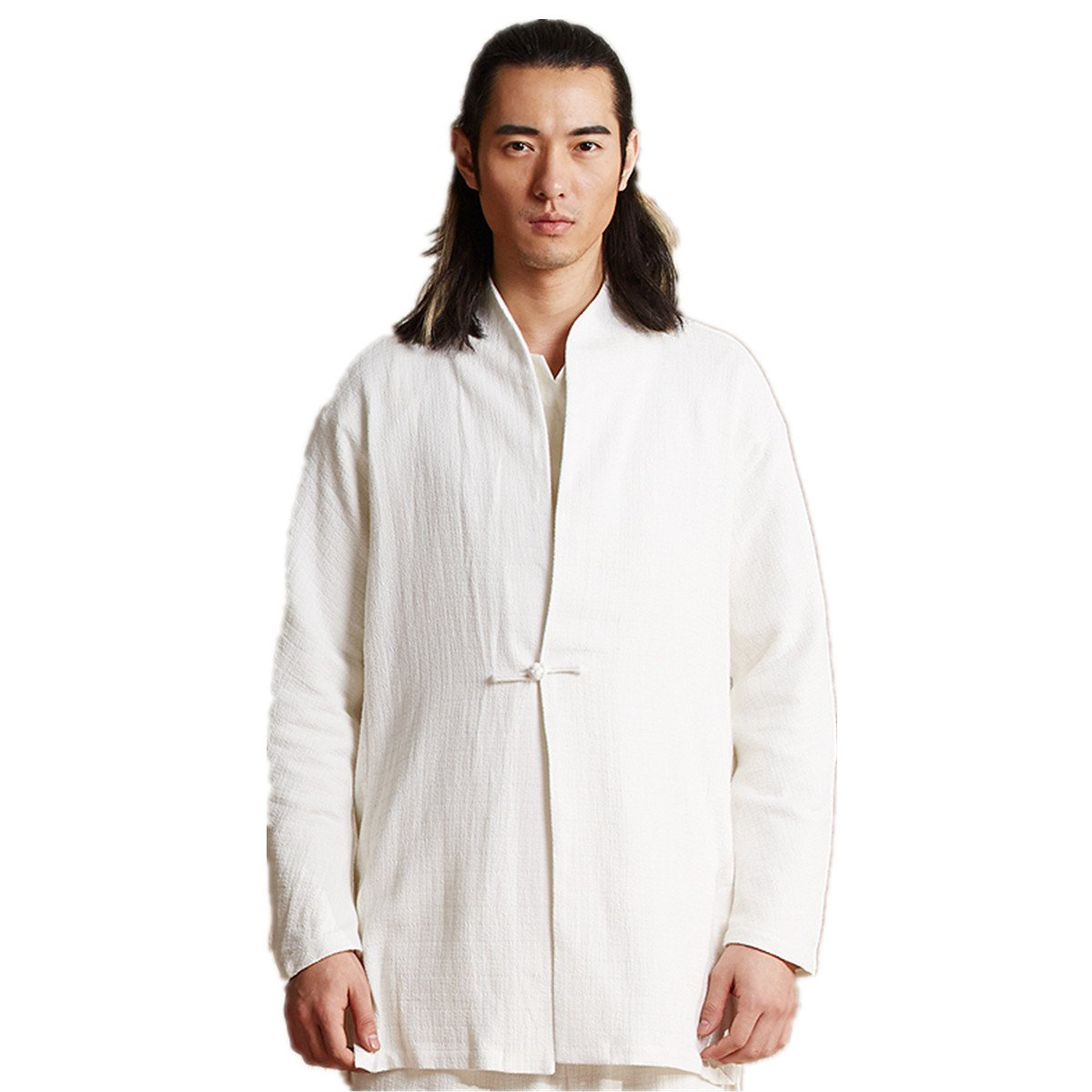 WEISAN Mens Japan Traditional Jacket Cotton Linen Spring Autumn Kung Fu Costume