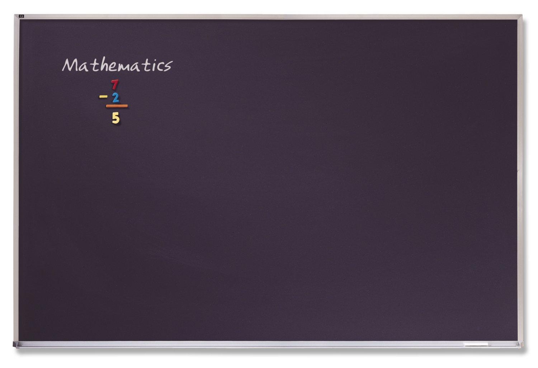 Quartet Chalkboard, Porcelain, Magnetic, 3 x 4 Feet, Aluminum Frame (PCA304B)