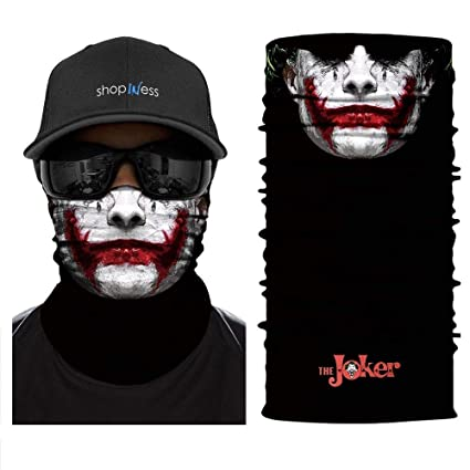 Amazon.com   ShopINess Multifunctional Headwear Bandana - Joker ... 1fd72762f0e
