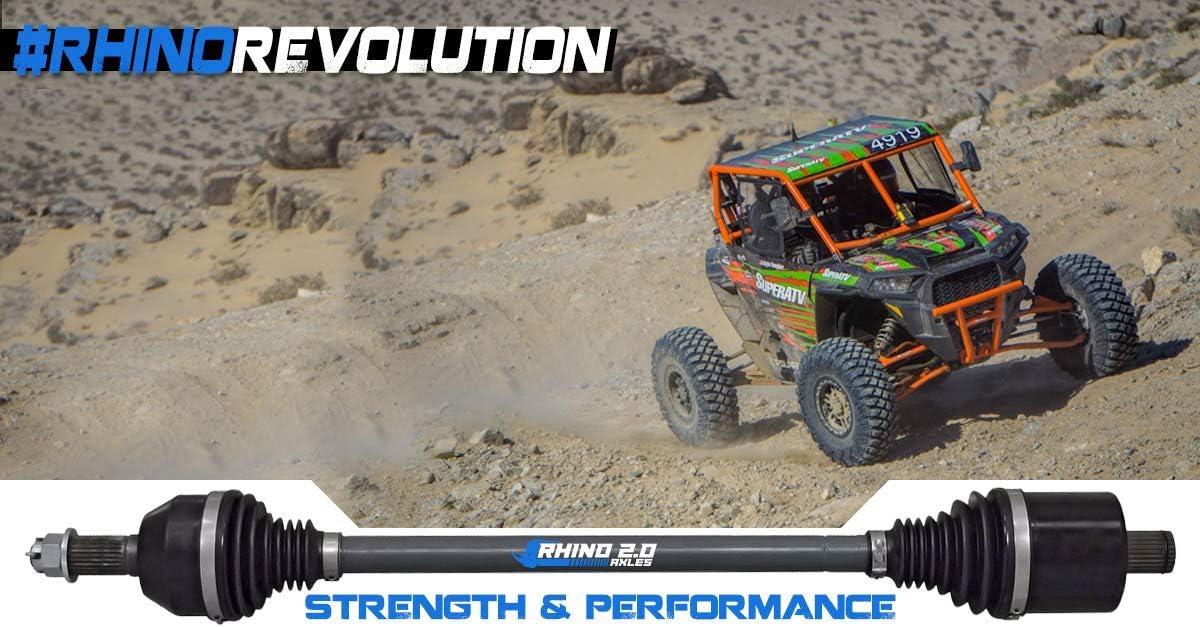 REAR 2X Stronger Than Stock! SuperATV Heavy Duty Rhino 2.0 Rear CV Axle for Polaris Ranger XP 1000 High Lifter Edition