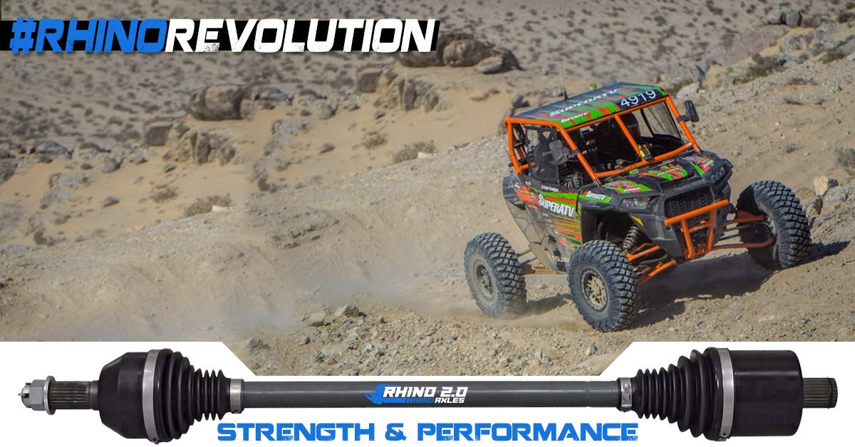 SuperATV Heavy Duty Rhino 2.0 Polaris RZR XP 1000/4 1000 Stock Length Axle (2014+) - SEE FITMENT BELOW - Front PAIR