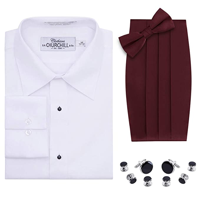 Amazon.com: Camisa de esmoquin para hombre, color blanco ...
