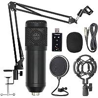 JJmooer BM800 Professional Suspension Microphone Kit Studio Live Stream Broadcasting Recording Condenser Microphone Set
