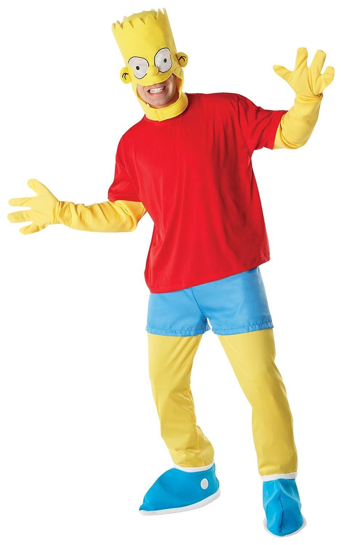 Los Simpson - Disfraz de Bart (talla estándar de adulto)