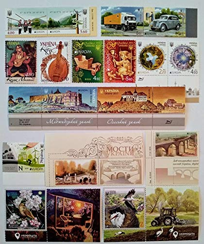 Europa CEPT New Ukraine 2011-2019 COMPLETE Set of Ukrainian stamps Blocks MNH **