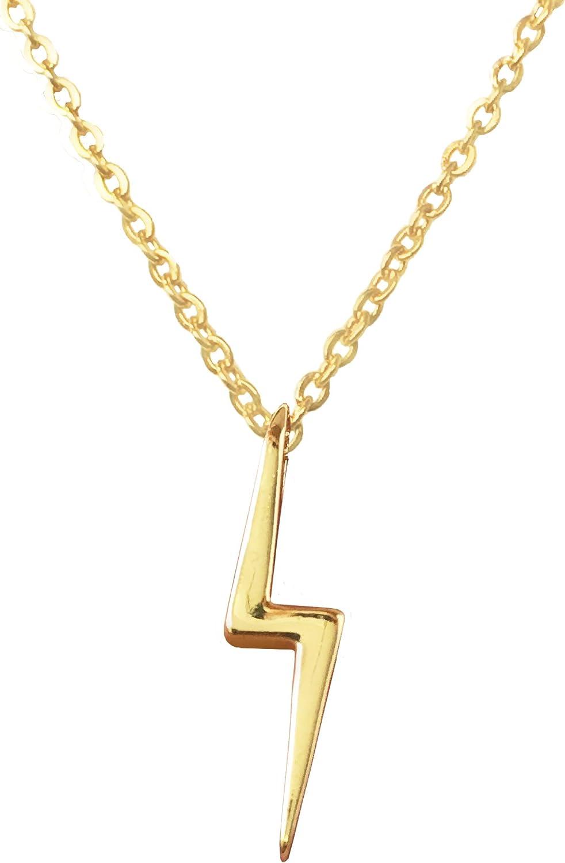 Altitude Boutique Solid Shiney Lightning Necklace Lightning Bolt Necklace
