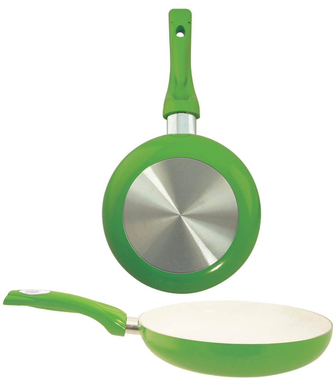 EURO-HOME Ceramic Coated Fry Pan, 11'', Green