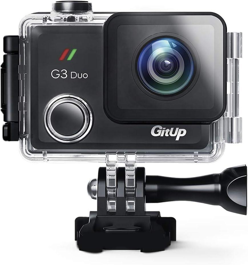 GitUp 2160P G3 Duo - Cámara deportiva con EIS (12 MP, pantalla táctil de 5 pulgadas, mando a distancia opcional y registrador GPS): Amazon.es: Deportes y aire libre