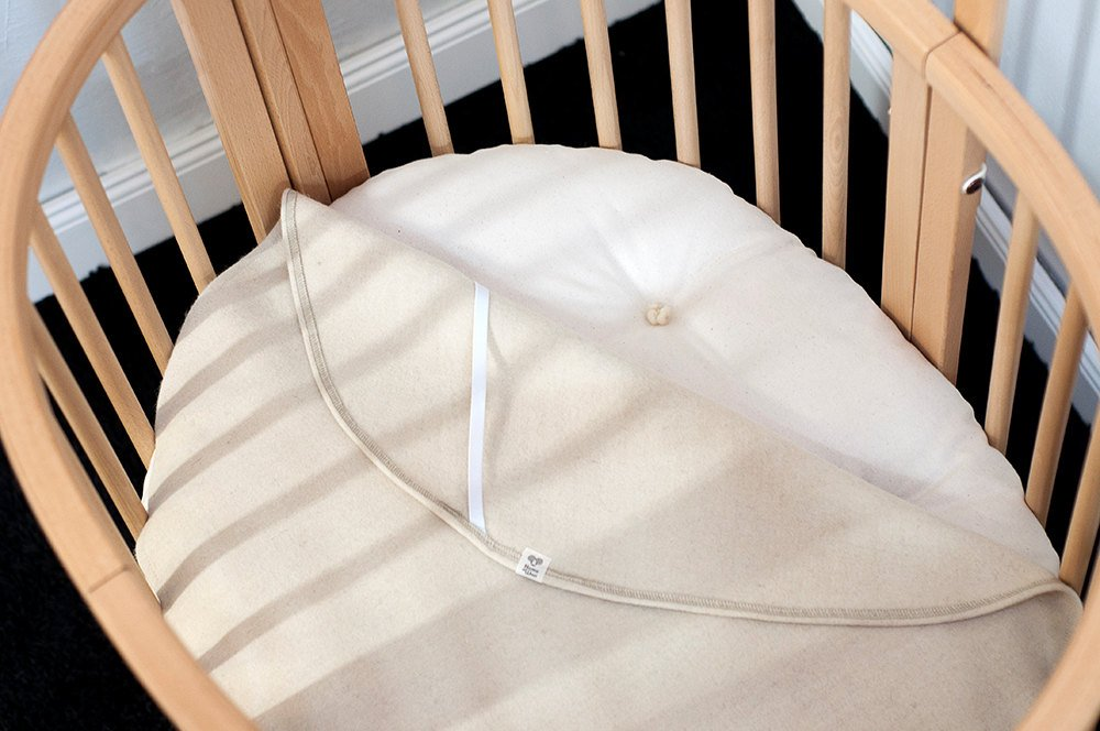 STOKKE-size Wool Piddle Pad/Protector / Moisture Barrier/Cover for Stokke Sleepi Mini, Bed, or Junior mattress Home of Wool