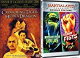 Martial Arts Cult Classics 3-Movie Collection - Moonlight Sword & Jade Lione, The Bloody Fists & Crouching Tiger Hidden Dragon 3-DVD Bundle