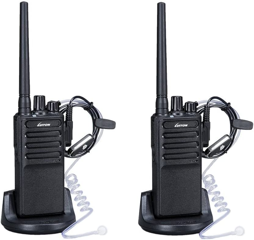 Walkie Talkies Voice Scrambler with Earpiece for Adults Outdoor CS Hiking Hunting Travelling Long Distance 2 Way Radios By Luiton 2 Packs
