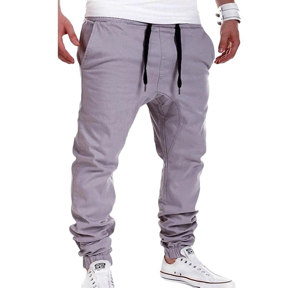 3e7182be XZmy Men's Harem Pants Casual Hip-Hop Sweatpants Drop Crotch Drawstring  Baggy Pants Jogging Trousers at Amazon Men's Clothing store: