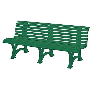 Amazon.de: Gartenbank BORKUM grün, 4-Sitzer, Kunststoff, Breite: 200 cm
