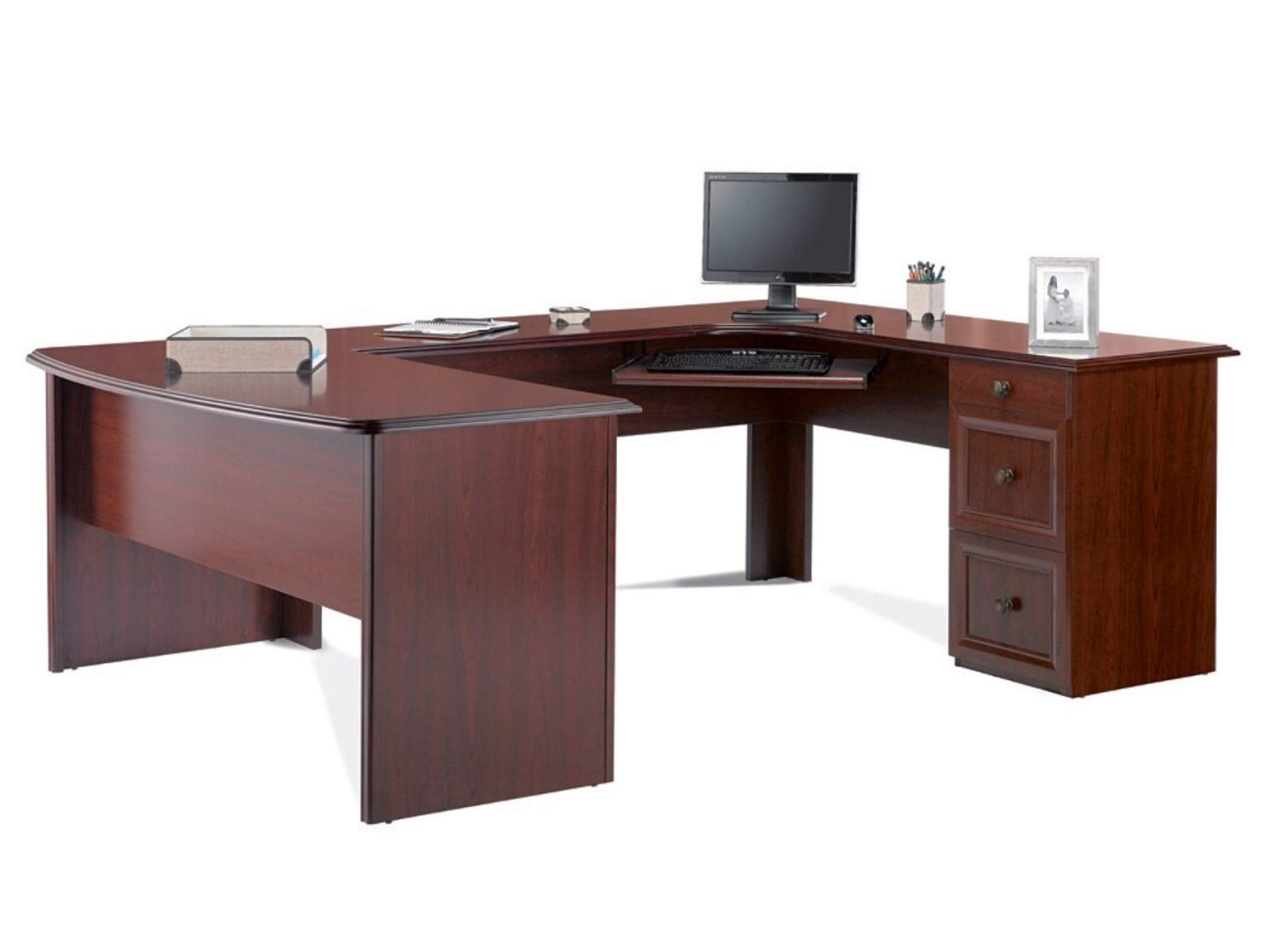Realspace Broadstreet Executive U-shaped Office Desk - Hutch sold separately by Realspace