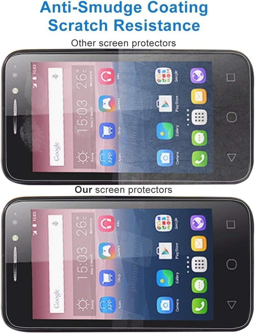 Lihuoxiu Phone Screen Protectors 100 PCS 0.26mm 9H 2.5D Tempered Glass Film for Alcatel Pixi 4 4.0 inch
