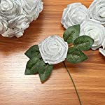 Febou-Artificial-Flowers-Real-Touch-Artificial-Foam-Roses-Decoration-DIY-for-Wedding-Bridesmaid-Bridal-Bouquets-Centerpieces-Party-Decoration-Home-Office-Decor-Standard-Type-Shimmer-White