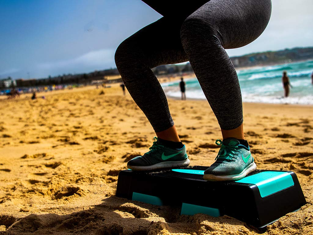 Unleashed Women's 3 Height Adjustable Aerobic Workout Step Platform + Free eBook by unleaSHEd     (Image #3)