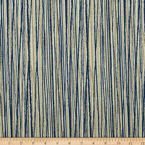 Magnolia Home Fashions Laurel Bay Stripe Cove Blue Fabric by The Yard ()