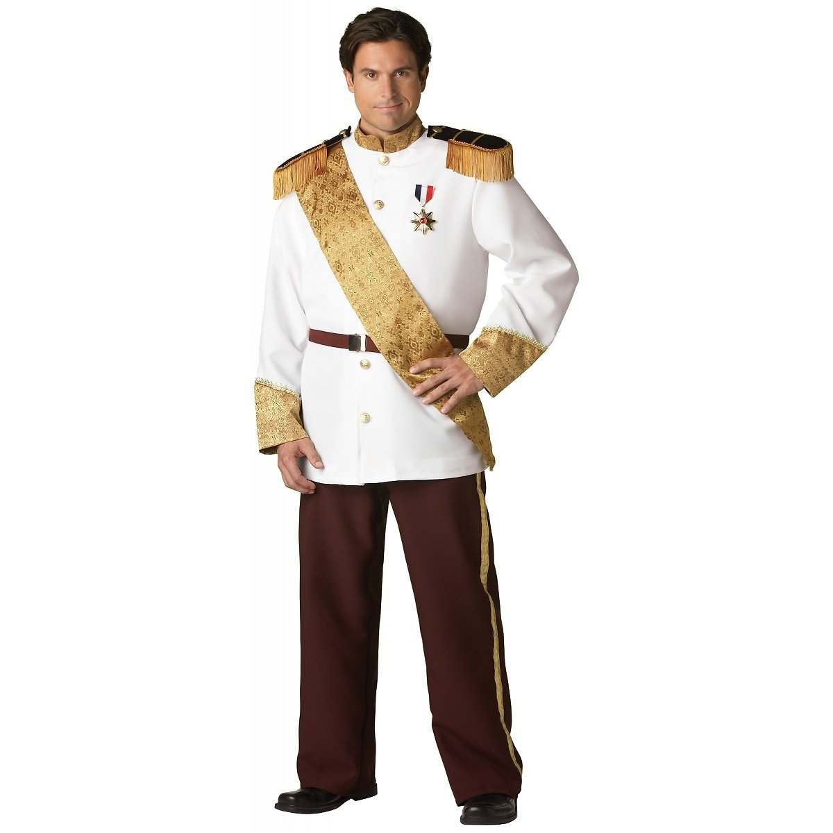 InCharacter Costumes Men's Plus Size Prince Charming Costume, White/Burgundy/Gold, XXX-Large