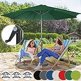 Miadomodo Garden Umbrella Ø 9.8 ft / 3 m Patio Outdoor Waterproof Parasol Sun Shade Protection in