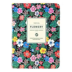 Er Way Calendar Schedule Organizer and Journal, Black Tropical