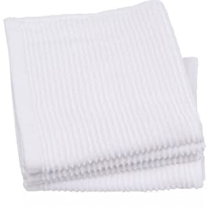 Now Designs Ripple Kitchen Dishcloth, Set of 4, White