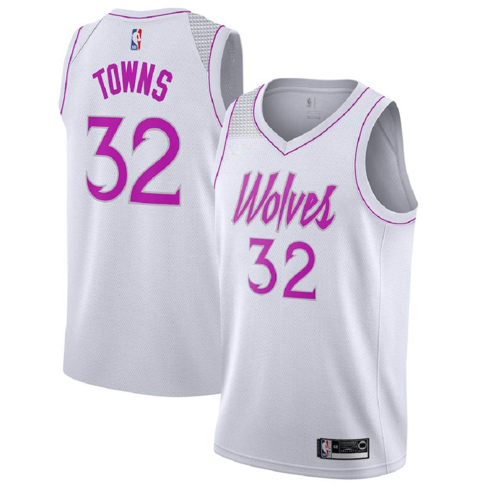new concept 8a4ed 76d8f Majestic Athletic Karl-Anthony Towns #32 Minnesota Timberwolves 2018-19  Swingman Men's Jersey White