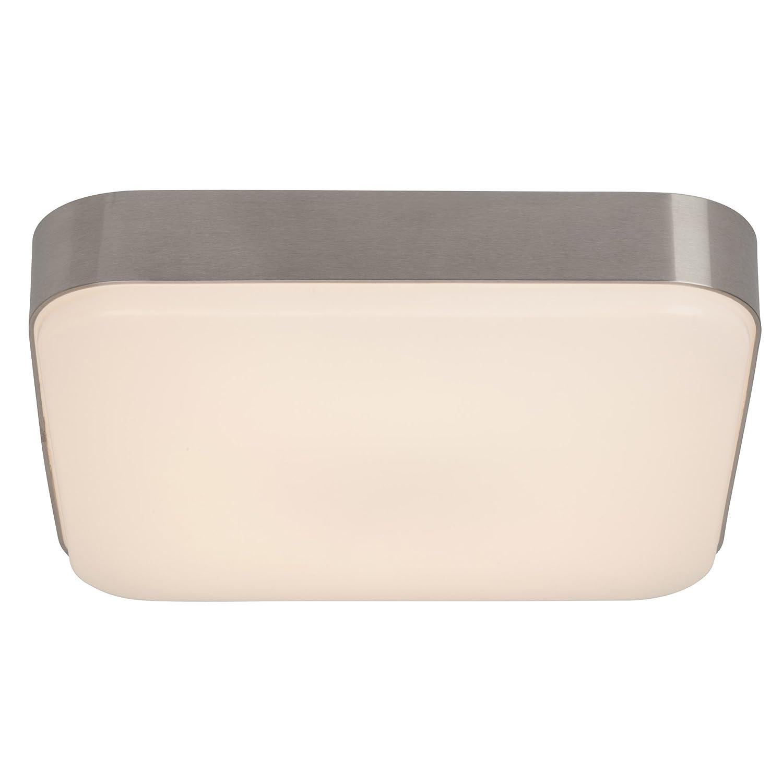 LED Wand- und Deckenleuchte quadratisch 1.350 Lumen, warmweiß 3.000K, 22W - 34cm x 34cm, Aluminium   Kunststoff, anthrazit   weiß