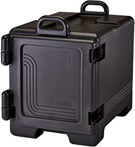 Cambro 300UPC-110 Black Ultra Front Loading Insulated Food Pan Carrier with Handles