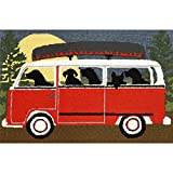 Cheap Liora Manne FT134A51624 Whimsy Dogs Fall Travel Rug, Indoor/Outdoor, 30″ x 48″, Red
