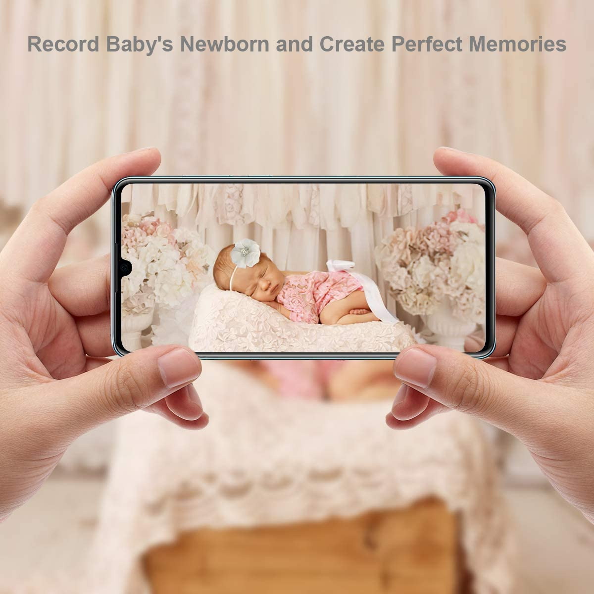 2 Pcs//Ensemble Nouveau-N/é B/éb/é Fille Dentelle Photographie Accessoires Accessoires Barboteuse Bandeau Tenues Baby Shower Photo Shoot V/êtements pour B/éb/é Rose Or