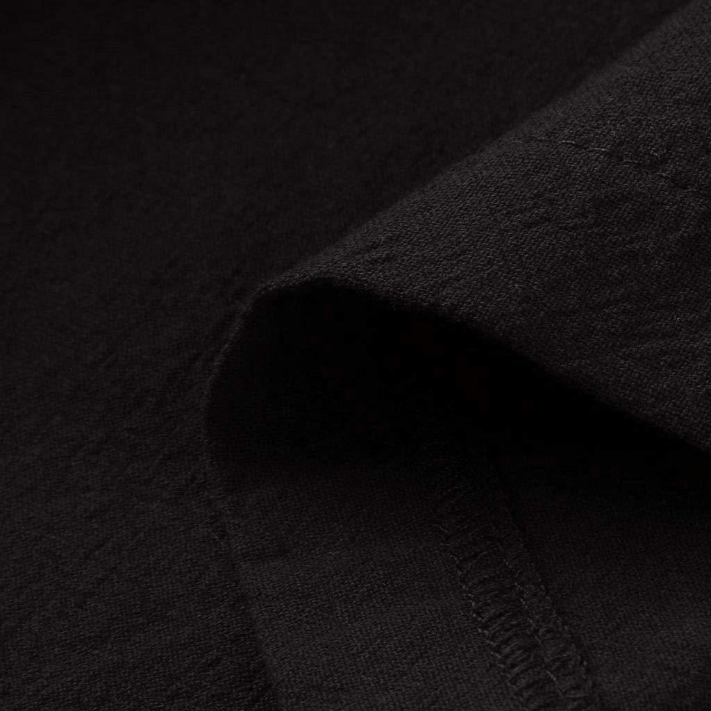 Womens Short Sleeve Tunic Top T-Shirt Swing Dress Maxi Dress Cotton Linen Button Down Split Maxi Long Dresses