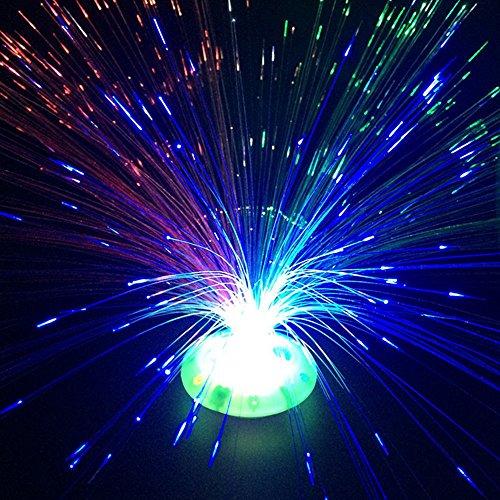 Optic Fibre Lights (DierCosy Colour Changing Fibre Optic Fountain - Night light Calming Lamp)