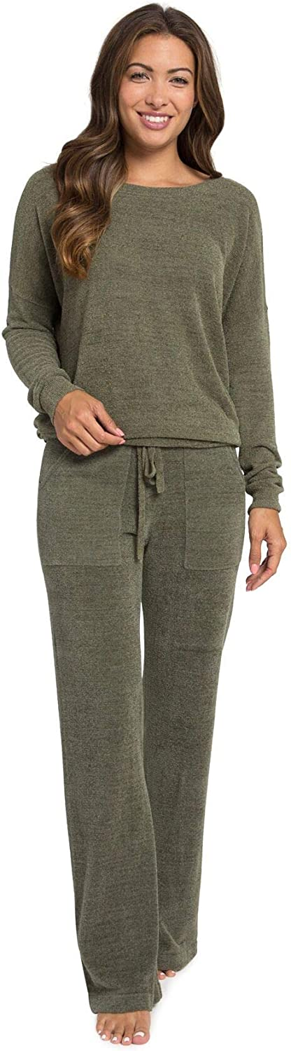 Barefoot Dreams CozyChic Ultra Lite Slouchy Pullover for Women, Ultra Soft Long Sleeve, Crew Neck Pullover