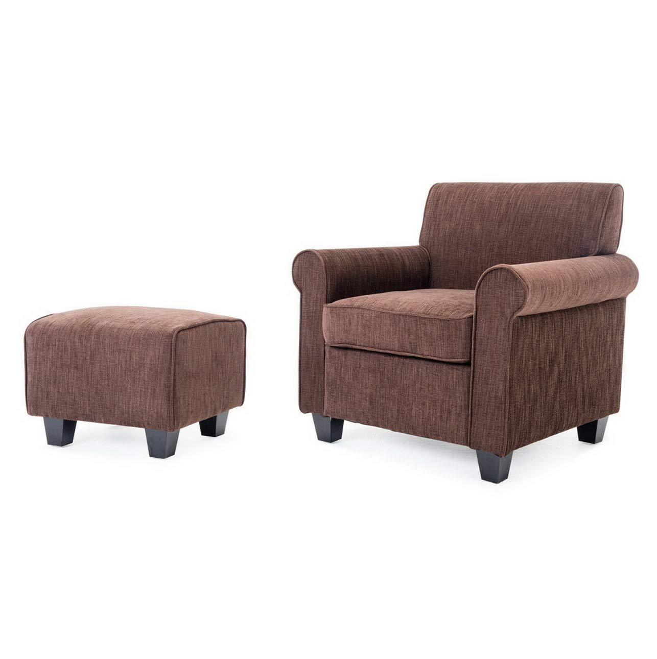 Amazon.com: Hebel Retro Chairs Ottoman Upholstered Foam ...